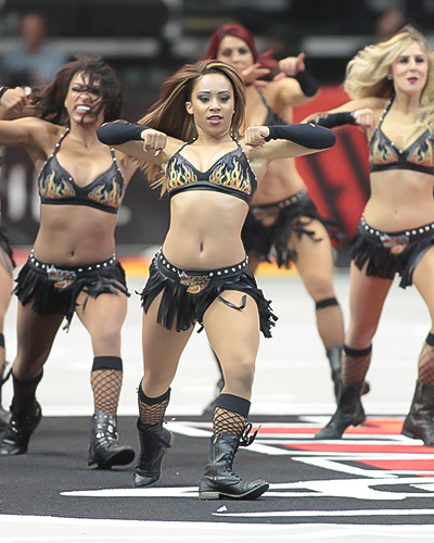 LA Kiss Dancers showing off their skills. Photo by Jevone Moore / Full Image 360
