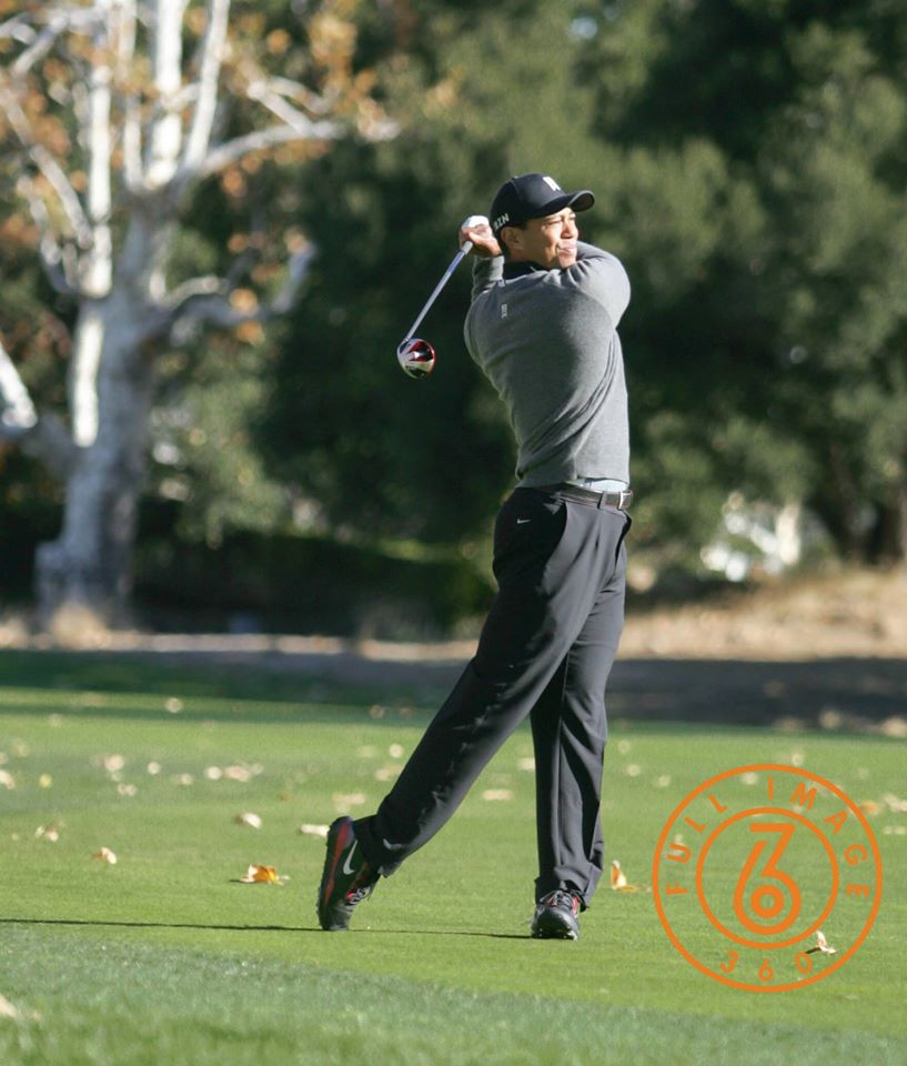 Tiger on Sherwood Country Club 14th hole fairway. Photo by Jevone Moore