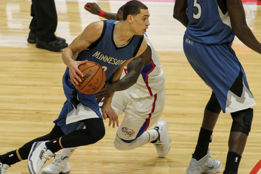 Zach LaVine driving past Robinson to the lane. Photos by Full Image 360 / Jevone Moore