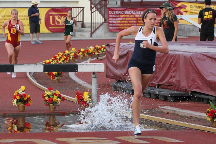 BYU 3000m Steeplechase Winner Jennica Reed.