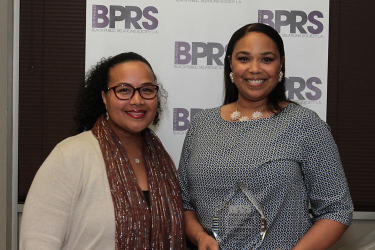 Honoree Roslyn Bibby-Madison with SVP of CBS Entertainment Diversity Tiffany Smith-Anoa'i