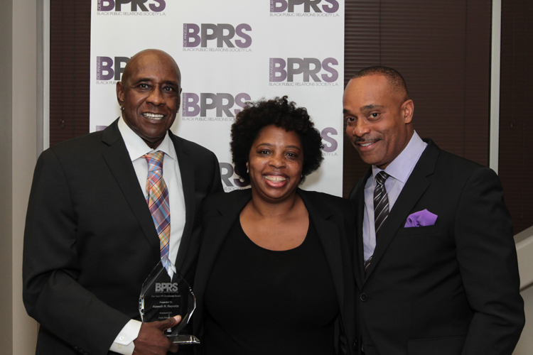 Honoree Kenneth R. Reynolds' with BPRS-LA President Shawn Turner & Actor Rocky Carroll