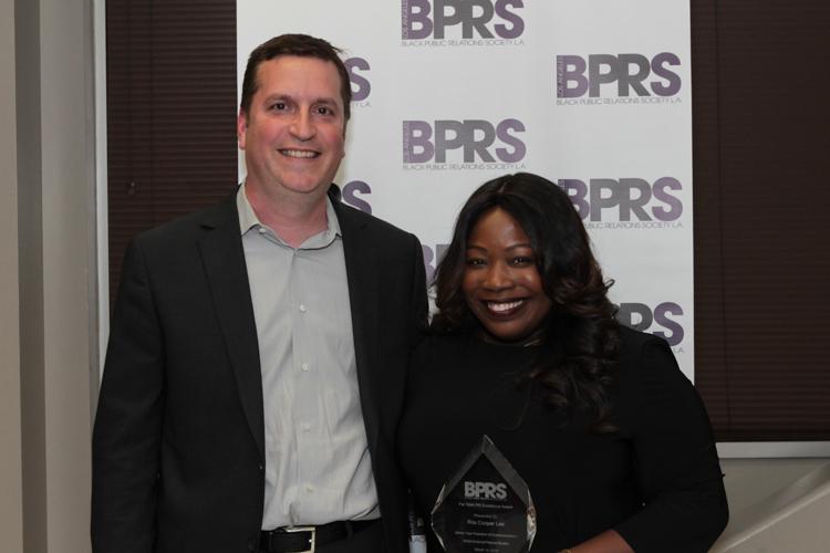 Honoree Rita Cooper Lee with her Boss Brannon Braga