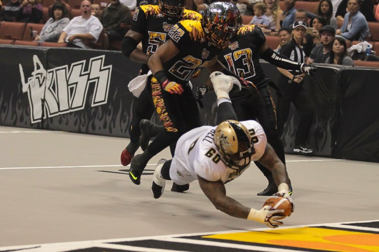 Terrence Campbell on the touchdown catch, run & dive. All Photos by Jevone Moore / Full Image 360