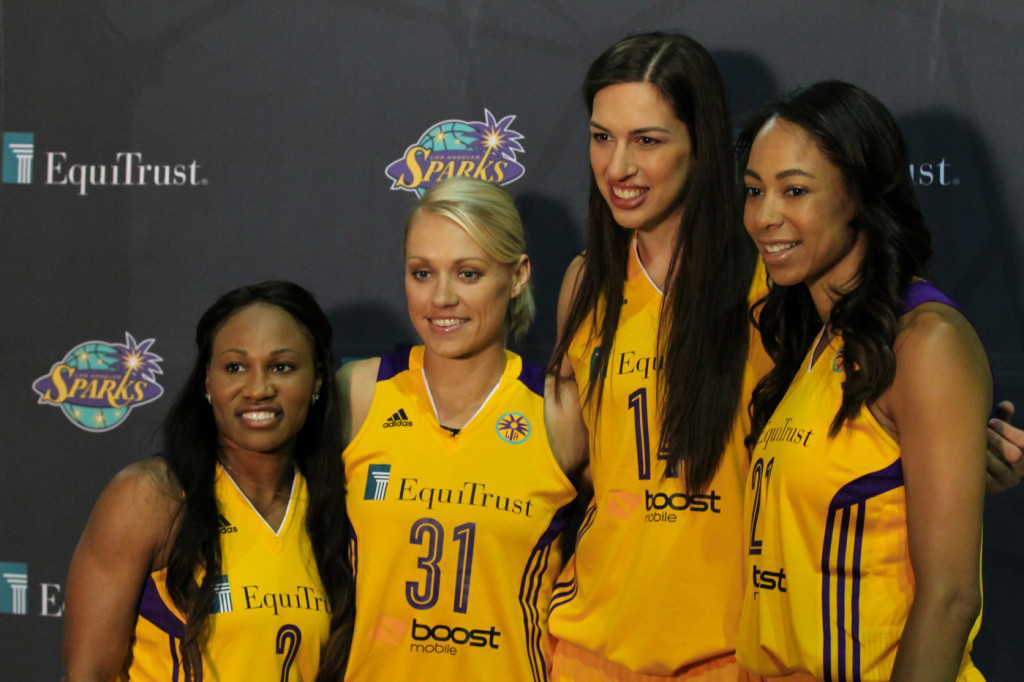 Sparks New Additions Temeka Johnson #2, Erin Phillips #31, Marianna Tolo #14, & Jennifer Lacy #21
