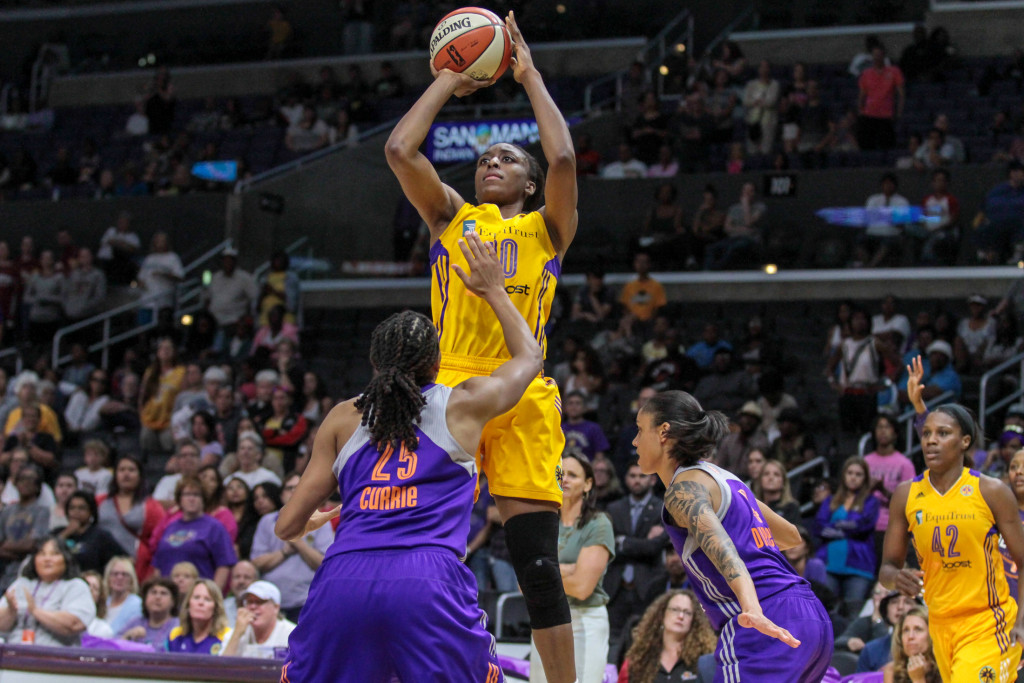 Nneka Ogwumike rising high for the jump shot. Photo by Jevone Moore