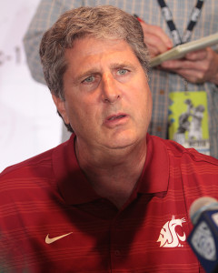 "WSU Coach Mike Leach, ""Yes we are going to Air it Out!"" Photo by Jevone Moore"