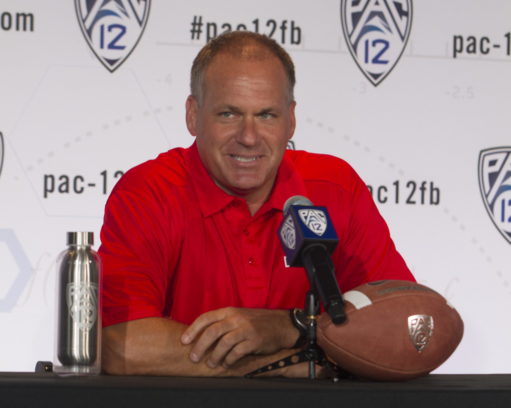 Head Coach Rich Rodriguez at Media Day 2015. Photo by Jevone Moore