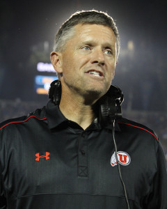 Coach Whittingham on the sideline. Photo by Jevone Moore