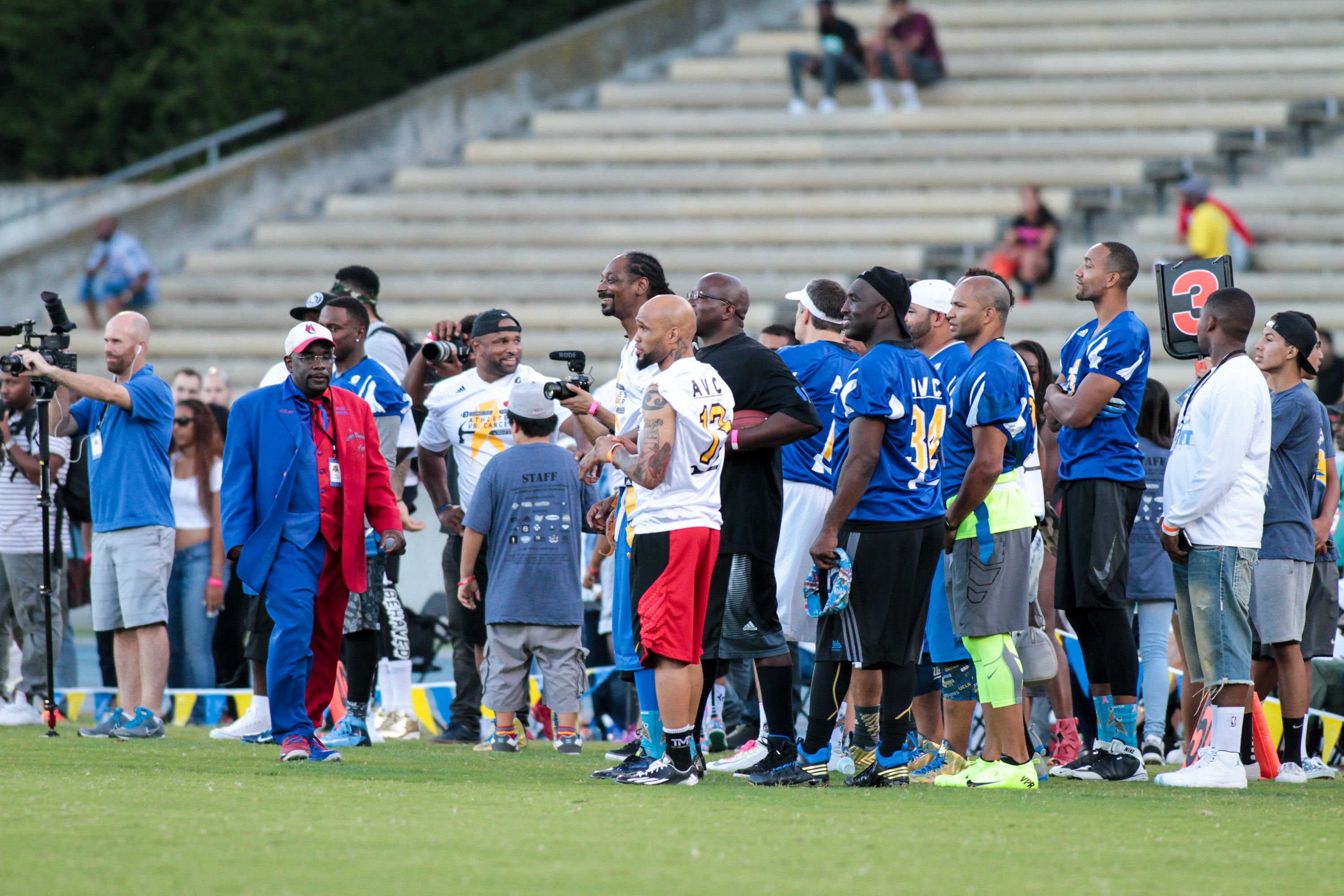 3rd Annual Celebrity Flag Football game hosted by Matt Barnes & Snoop Dogg at Ucla Drake Stadium