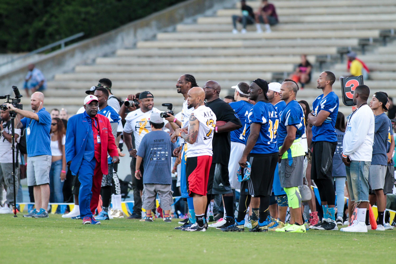 3rd Annual Celebrity Flag Football game hosted by Matt Barnes & Snoop Dogg at Ucla Drake Stadium
