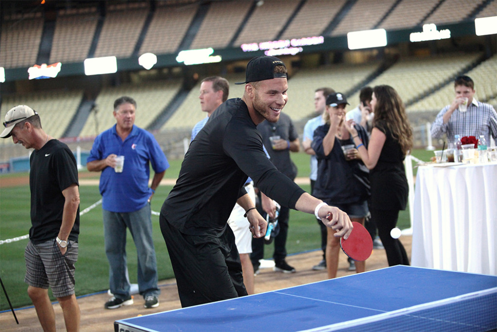 Blake Griffin with backhand and a smile. Photo by William Johnson