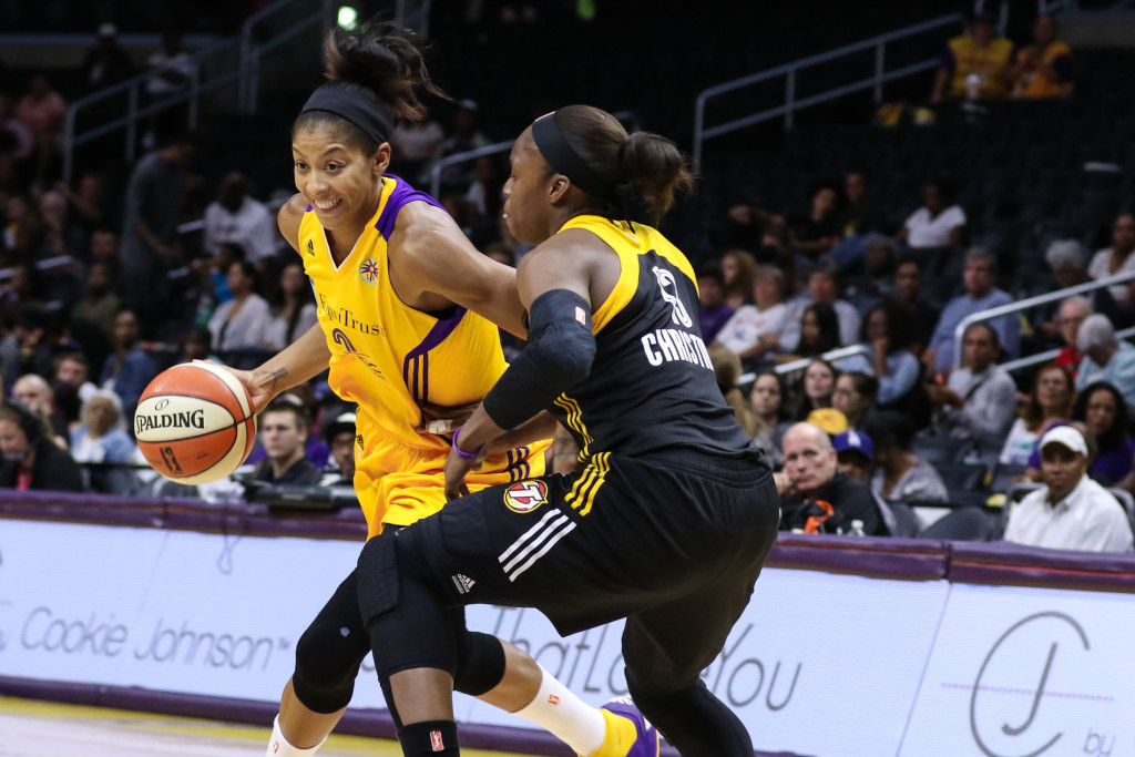 Candace Parker with quick first step. 10 Points, 12 Rebounds Photo by Jevone Moore