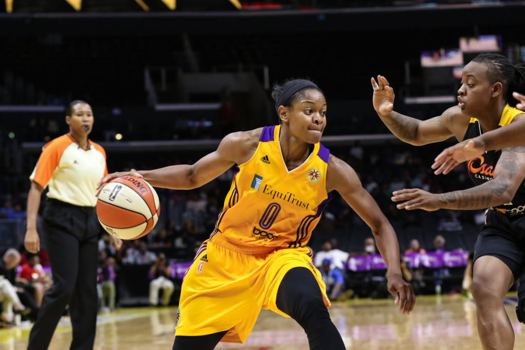 Sparks Alana Beard dropped 13 points. Photo by Jevone Moore