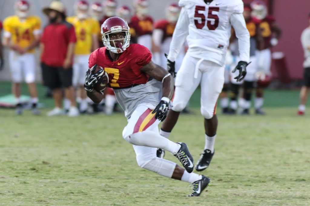 WR Steven Mitchell Jr. finding a window in the zone. Photo by Jevone Moore