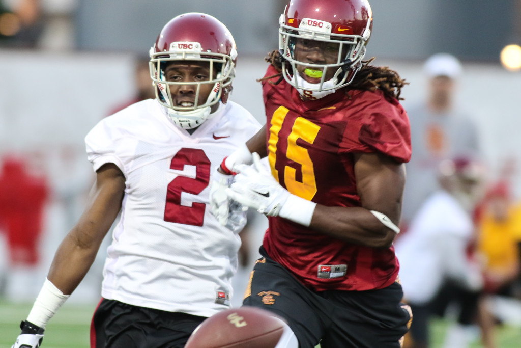 One on One's Compete Adoree' Jackson (2) & Isaac Whitney (15). Photo by Jevone Moore