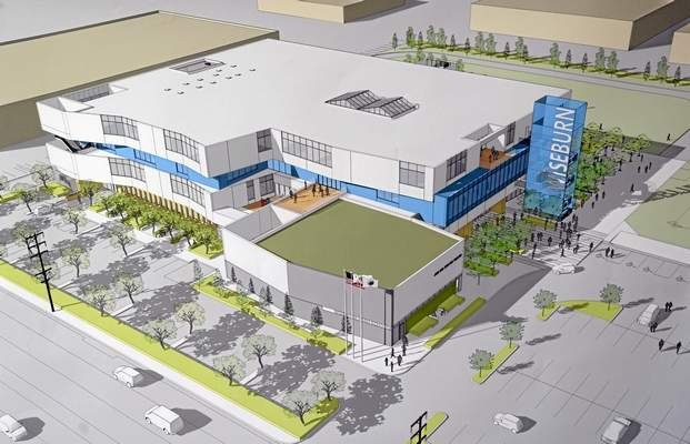 The New Design of New Wiseburn Charter High School in El Segundo.