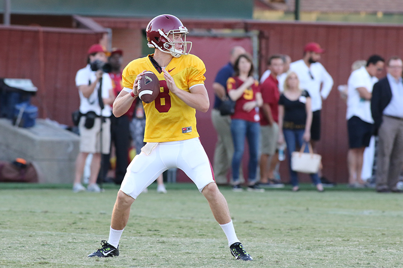QB Ricky Town standing tall in Pocket. Photo by Jevone Moore