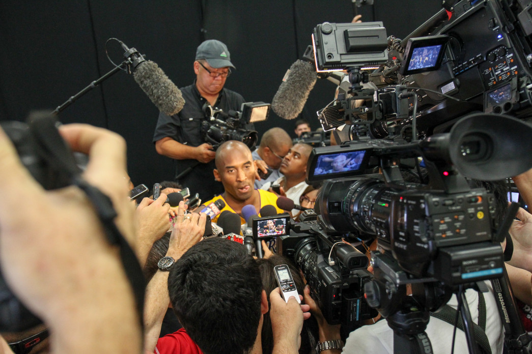 Kobe Bryant at Los Angeles Lakers Media Day 2015 Photo by Jordon Kelly