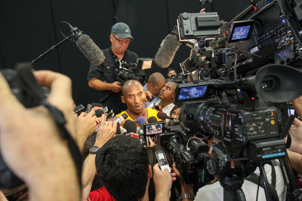 Kobe Bryant at Los Angeles Lakers Media Day 2015 Photo by Jordon Kelly