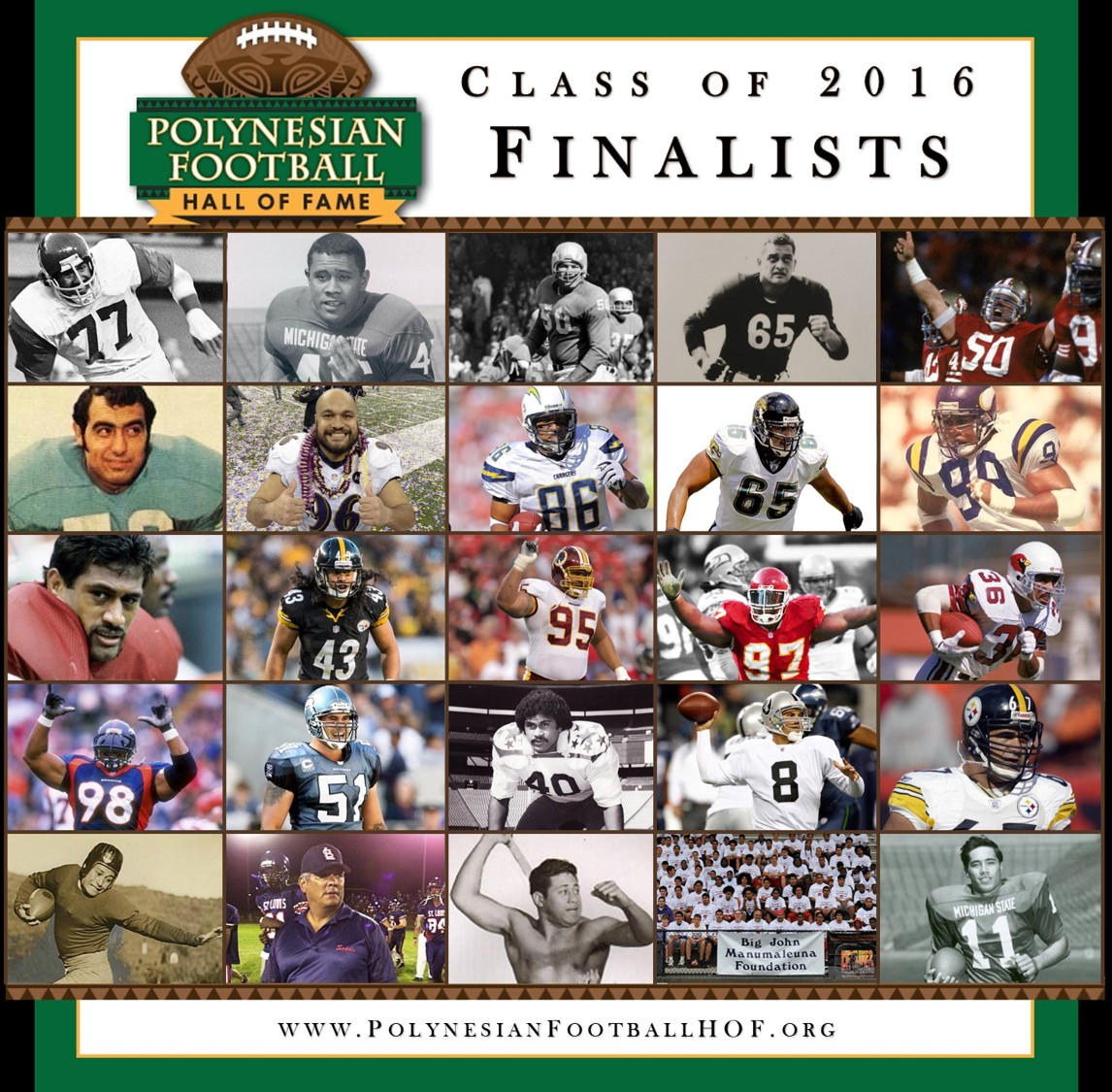 Polynesian Football Hall of Fame Finalist 2016