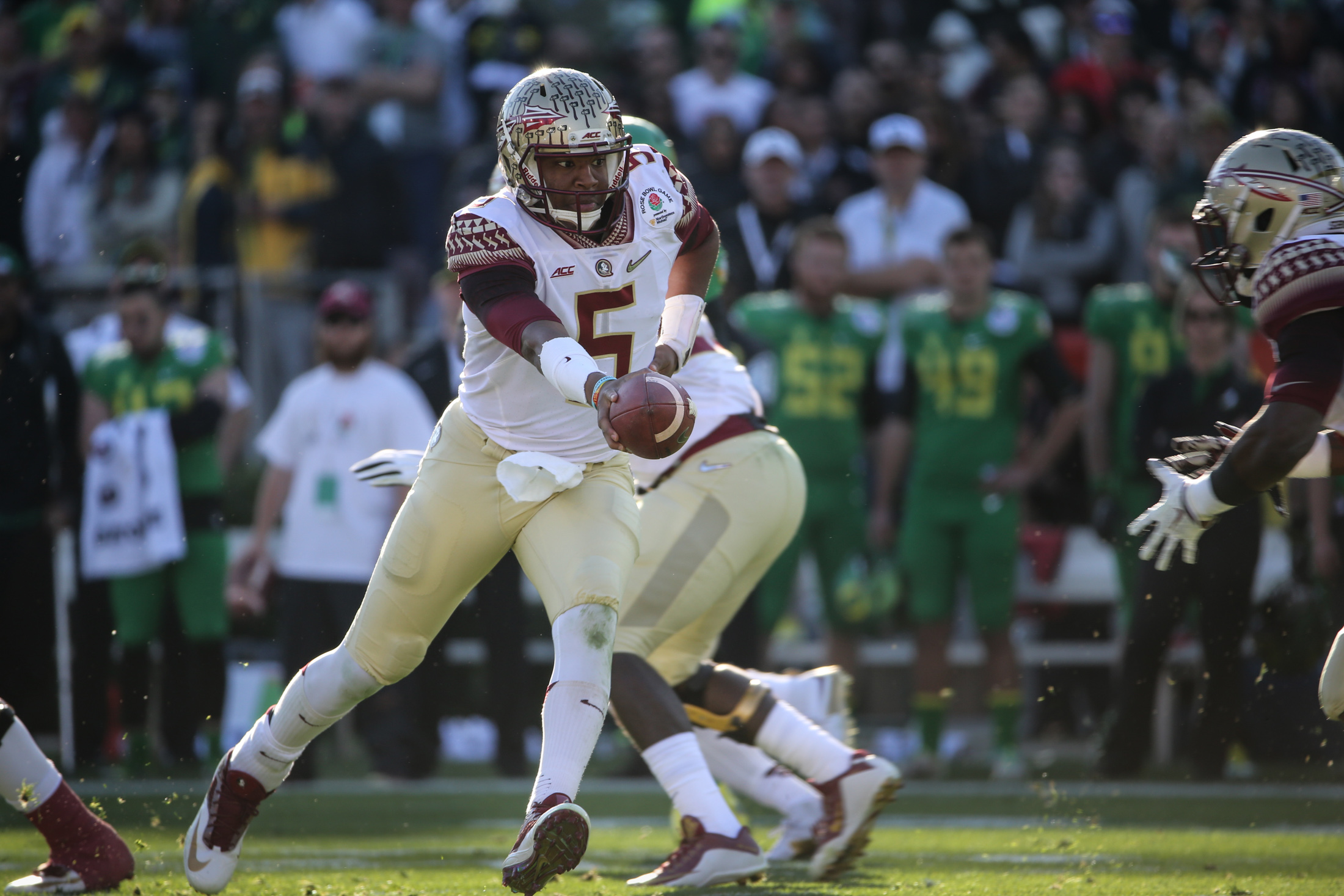 Florida State vs Oregon Ducks at the Rose Bowl in College Football Playoff - Jameis Winston