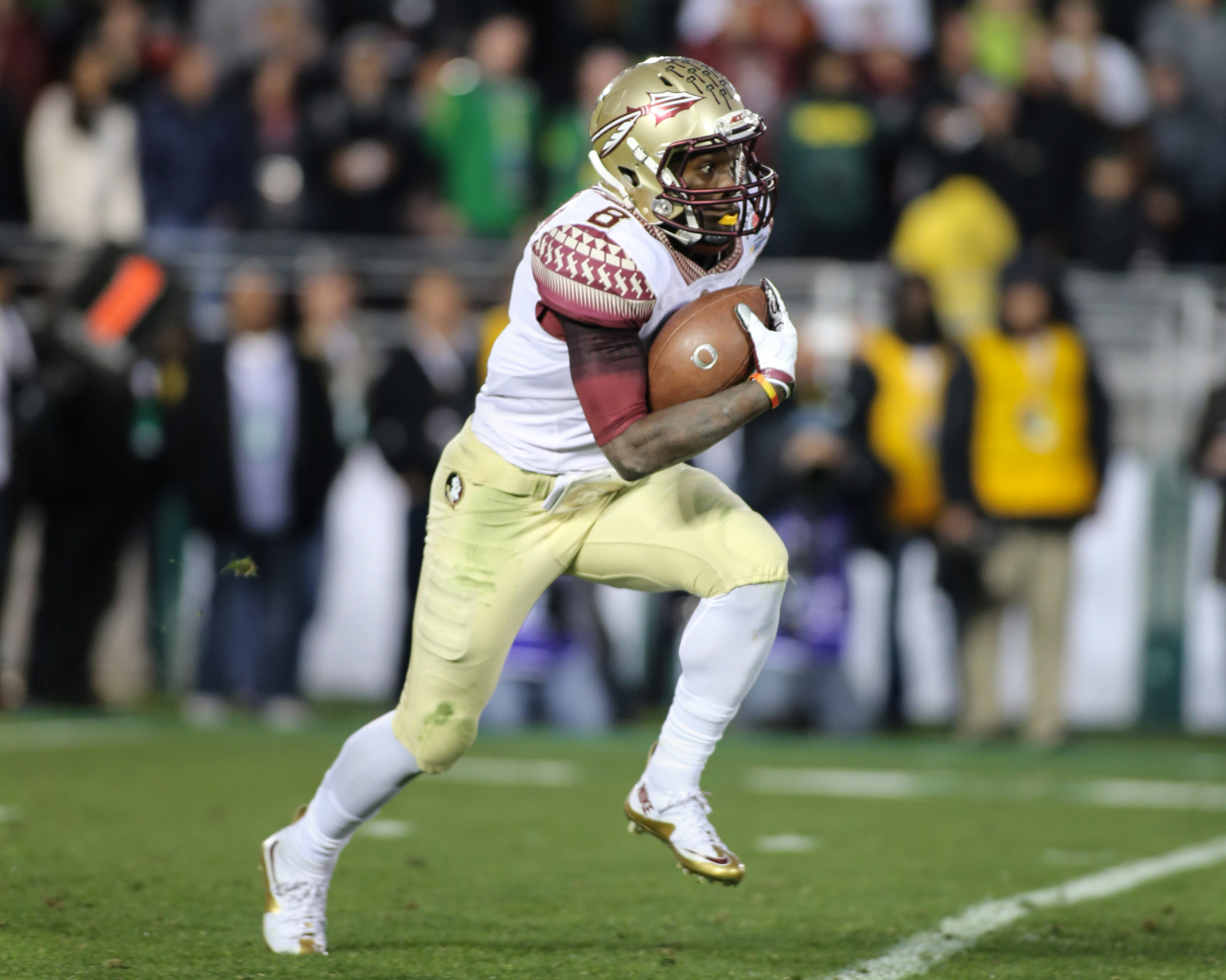 Florida State vs Oregon Ducks at the Rose Bowl in College Football Playoff - Kermit Whitfield