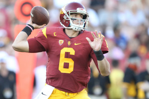 USC Cody Kessler standing tall in the pocket. Photo by Jordon Kelly