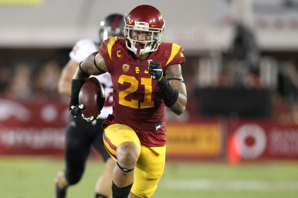 USC Linebacker Su'a Cravens on interceptions. Photo by Jordon Kelly