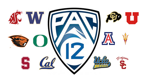Pac-12 Logos of Pac-12 North, Pac-12 South