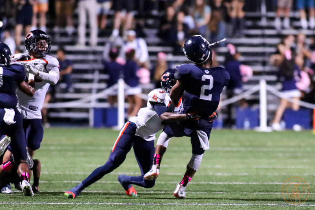 Diamond Harrell with legal Hard Hit that was called Personal Foul. Photo by Jevone Moore