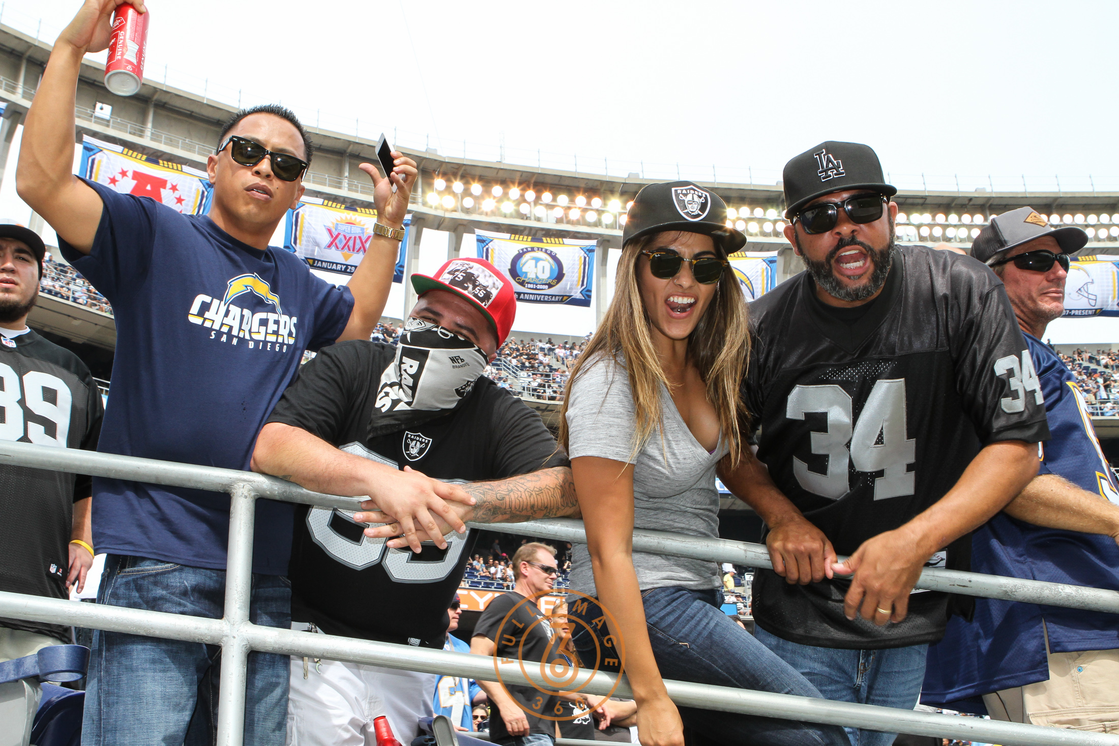 Oct. 25, 2015: Oakland Raiders Fans taking over San Diego in a game played at Qualcomm Stadium in San Diego, CA. (Photo By Jevone Moore/Full Image 360)