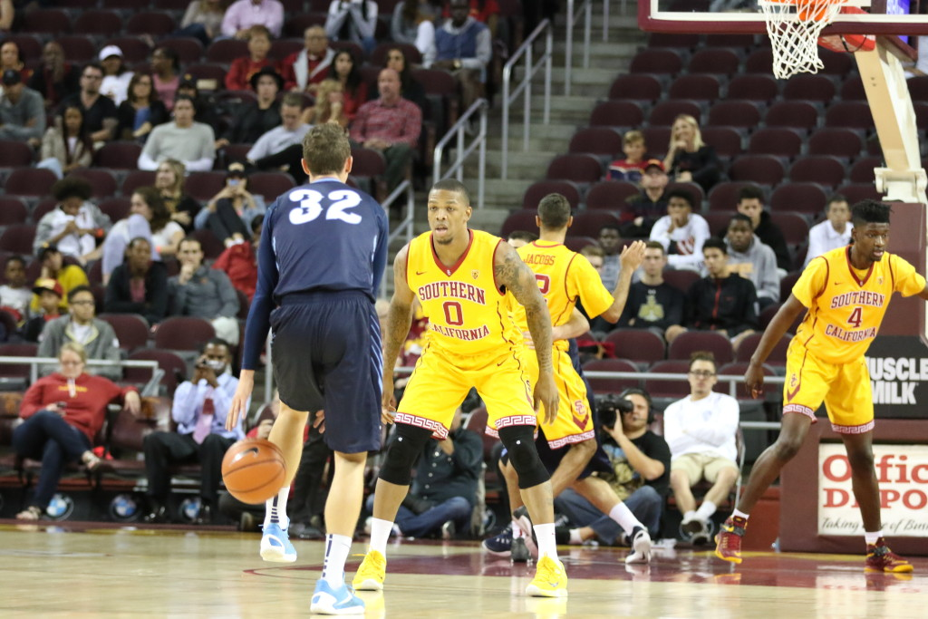 Nov 13 USC Basketball file photo against San Diego during the San Diego vs USC Basketball game at Galen Center in Los Angeles, Ca. (Photo by Jevone Moore/Full Image 360)