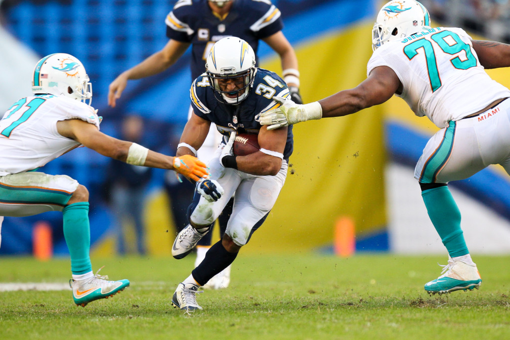 San Diego Chargers vs MIami Dolphins At Qualcomm stadium 12/20/15