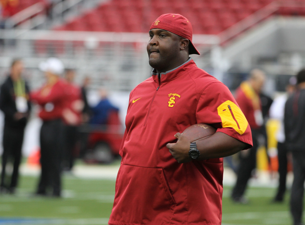 Dec 5: Asst USC Coach Tee Martin Pac-12 2015 Football Championship at Levi's Stadium in Santa Clara, Ca. (Photo by Jevone Moore/Full Image 360)