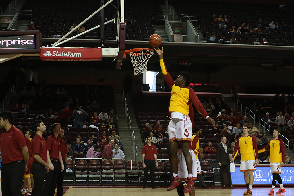 Pac-12 Men's Basketball USC Trojans forward Chimezie Metu (4)USC Trojans vs Yale Bulldogs first half game action at the Galen Center on Dec. 13th, 2015. (Photo by Jevone Moore/Full Image 360)