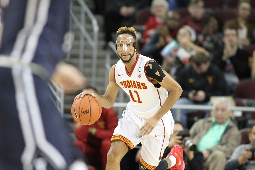 Pac-12 Men's Basketball USC Trojans vs Yale Bulldogs first half game action at the Galen Center on Dec. 13th, 2015. (Photo by Jevone Moore/Full Image 360)