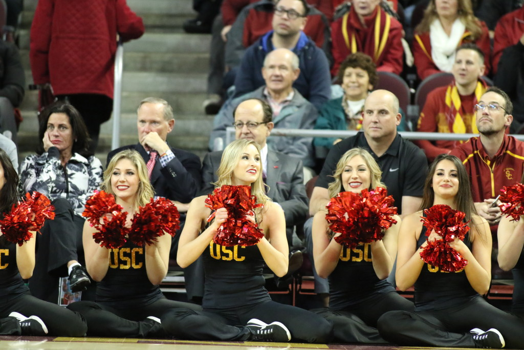 NCAA College Basketball game action during the college basketball game between the Arizona State Sun Devils and the USC Trojans at Galen Center in Los Angeles, CA. (Photo by Jevone Moore/Full Image 360)