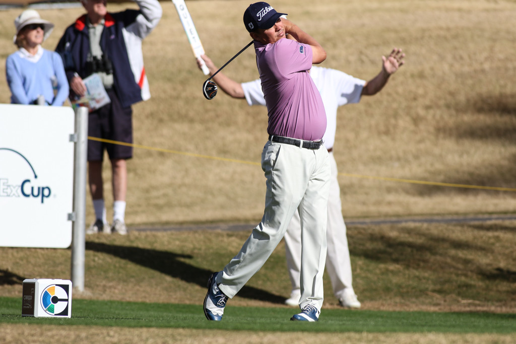 Jason Dufner in the first round action of PGA Golf during the CareerBuilder Challenge at PGA West TPC Stadium Course in La Quinta, CA. (Photo by  Jevone Moore/Full Image 360)