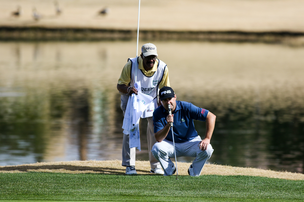 Rob Oppenheim in the first round action of PGA Golf during the CareerBuilder Challenge at PGA West TPC Stadium Course in La Quinta, CA. (Photo by Jevone Moore/Full Image 360)