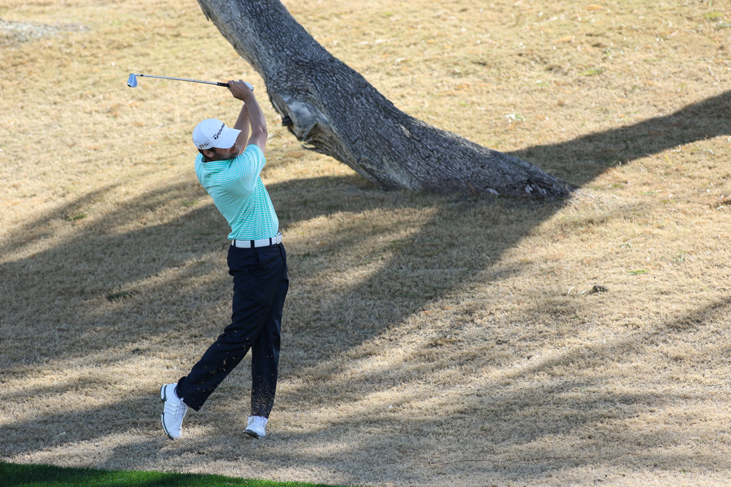 Sean O'Hair in the first round action of PGA Golf during the CareerBuilder Challenge at PGA West TPC Stadium Course in La Quinta, CA. (Photo by  Jevone Moore/Full Image 360)