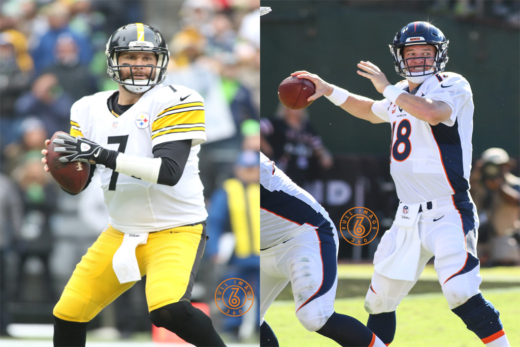 NFL AFC Match up Pittsburgh vs Denver game action from 2015 season. (Photo by Jevone Moore / Full Image 360)