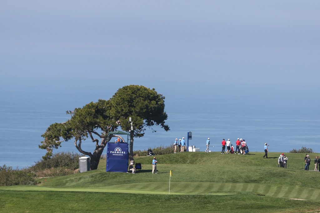Day 2 action on the South Course in the second round action of PGA Golf during the Farmers Insurance Open at Torrey Pines in San Diego, CA. (Photo by Jevone Moore/Full Image 360)