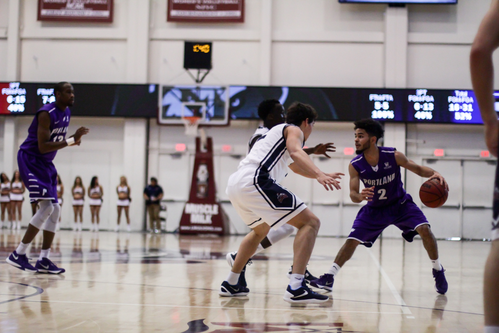 Game action during Portland University vs LMU game action at the Gersten Pavilion on Feb 6th, 2016. (Photo by Michael Ewing/fi360 News)