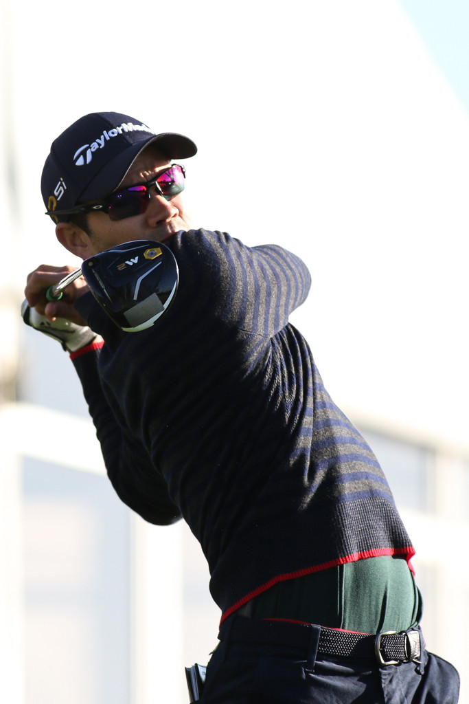 February 19, 2016: Camilo Villegas during the second round action of PGA Golf during the Northern Trust Open at The Riviera Country Club in Los Angeles, CA. (Photo by Jevone Moore/Full Image 360)