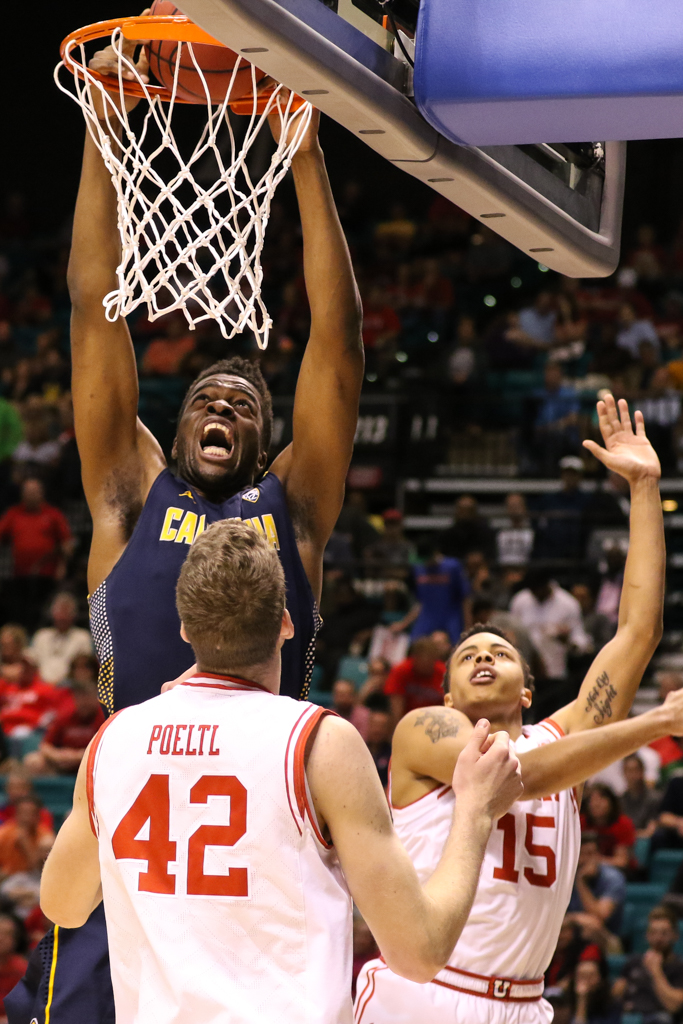 NCAA College Basketball first half game action during the 2016 PAC-12 Basketball Tournament semifinalsl game between the Utah Utes and the Cal Bears at MGM Grand Las Vegas, NV. (Photo by Jevone Moore/Full Image 360)
