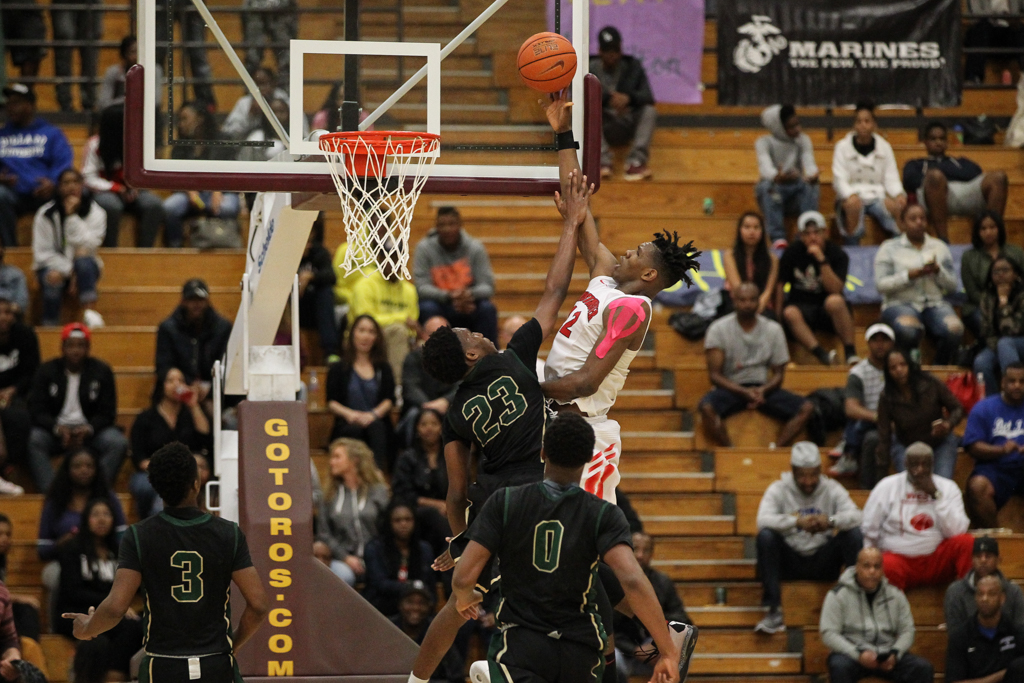 March 5th, 2016: Boys Open Division Basketball Championship at Cal State Dominguez Hills in Carson, CA. (Photo by Jevone Moore/Full Image 360)