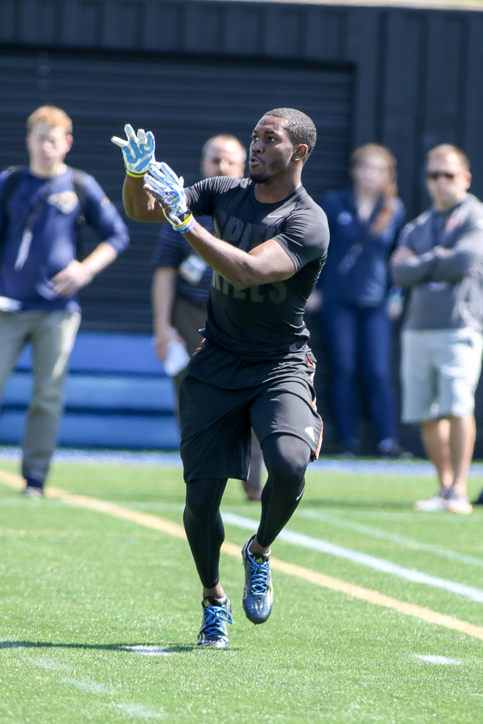 NCAA 2016 UCLA Football PRO DAY on campus in Westwood, CA. (Photo by Jevone Moore/Full Image 360)