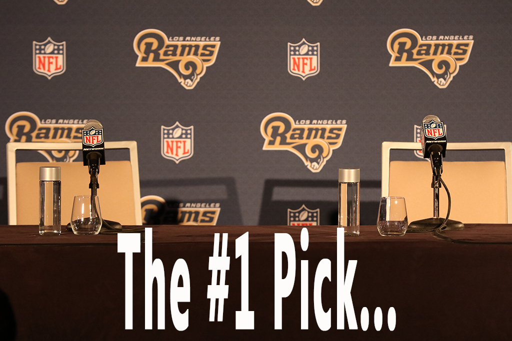 NFL Pre-Draft Press Conference for the Los Angeles Rams at Courtyard Marriott in Los Angeles, Ca on April 26, 2016. (Photo by Jevone Moore/Full Image 360)