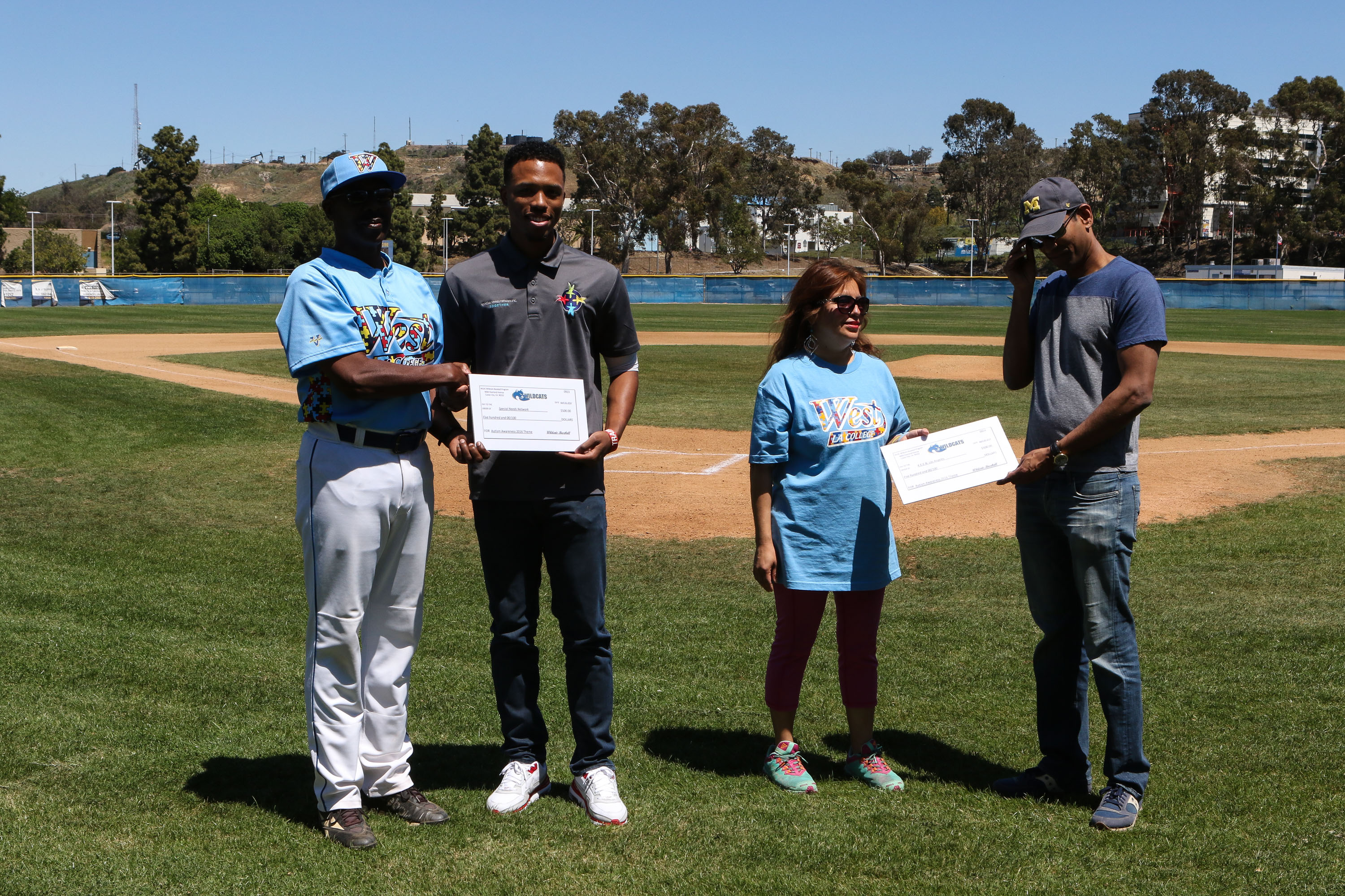 JUCO Baseball 2016: Antelope Valley College vs West L.A. College special game supporting Autism Awareness at West LA College in Los Angeles, CA. (Photo by Jevone Moore/Full Image 360)
